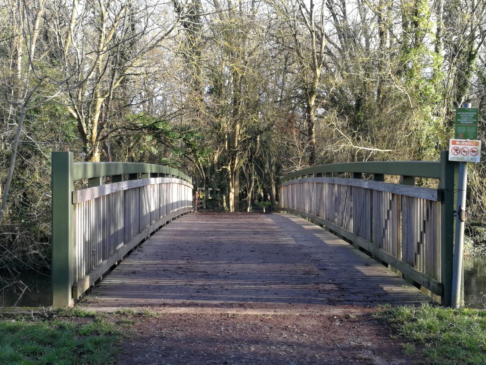 A wooden bridge which is the meeting point at Denham